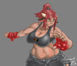 Cow MMA Figther rigth view by Lanius-Collurio