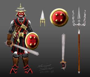East mercenary chara design by Lanius-Collurio