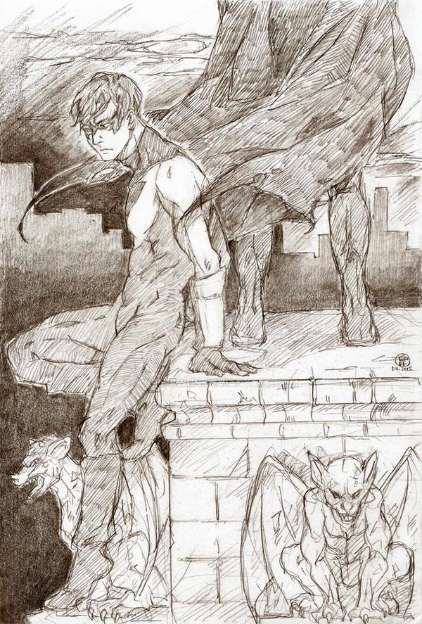 Nightwing and batman by kwun-kwun