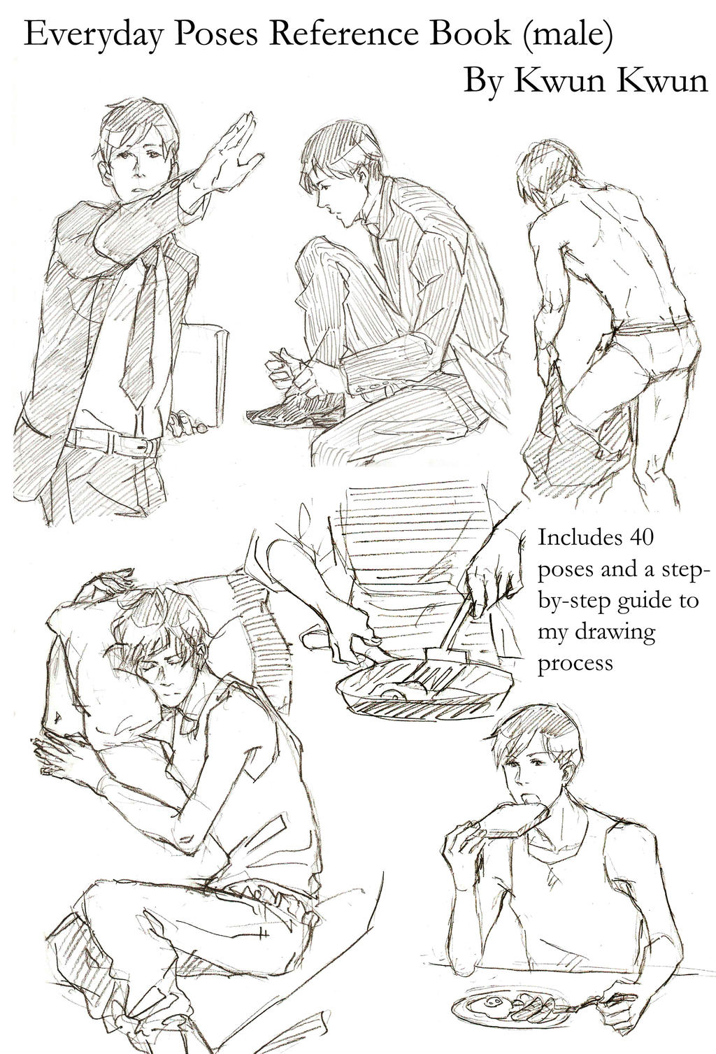 Everyday Poses Reference Book Male By Kwun Kwun On Deviantart