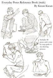 Everyday poses reference book (male)