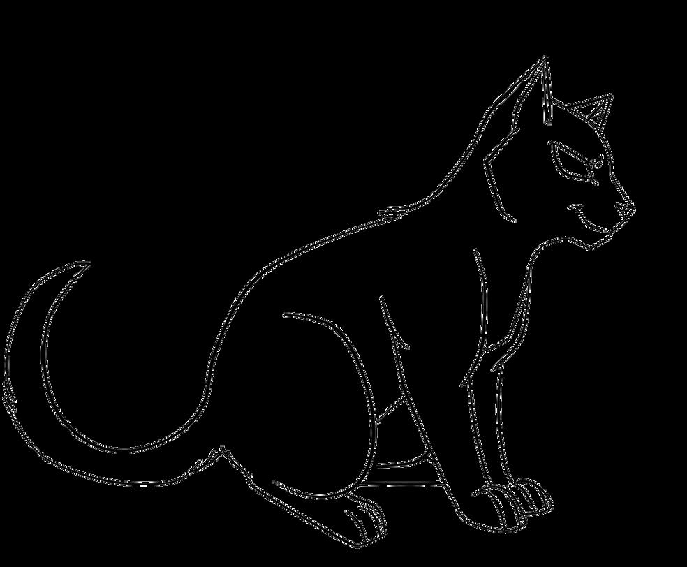 Cat Lineart : Sturdy cat lineart by drakynwyrm on deviantart