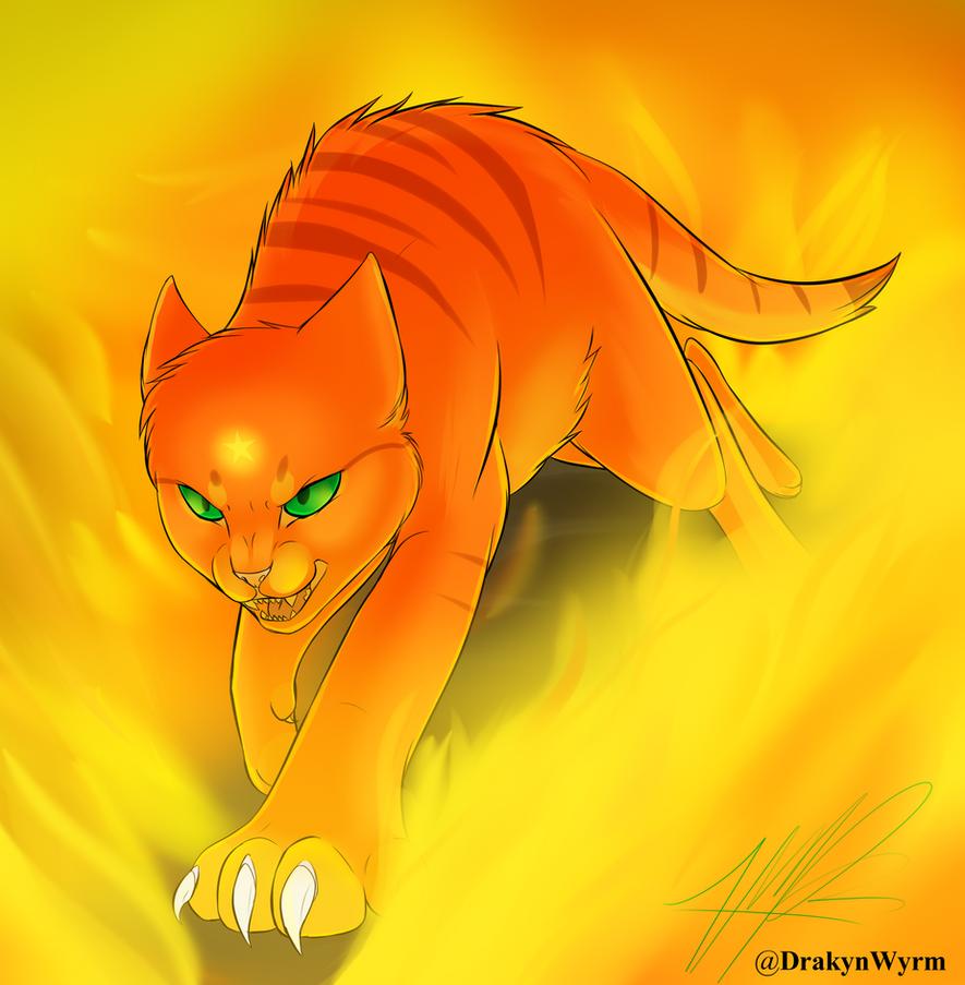 Firestar (Speedpaint!) by DrakynWyrm on DeviantArt Warrior Cat Drawings Firestar