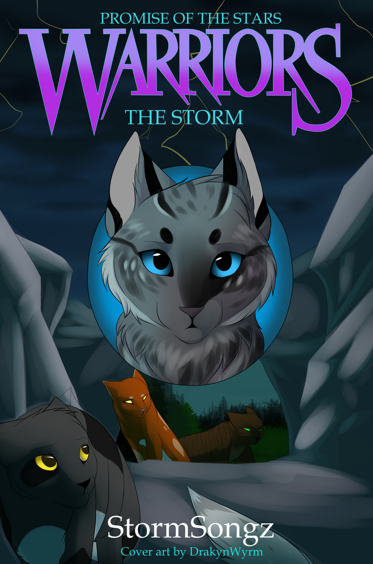 Warrior Cats Book Cover Template ~ Promise of the stars storm commission by drakynwyrm