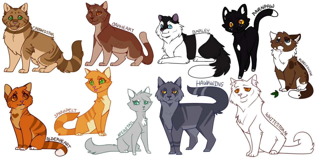 more warrior cats designs by drakynwyrm on deviantart