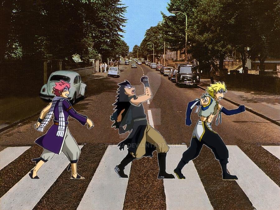 Abbey Road Fairy Tail Style by Fealia
