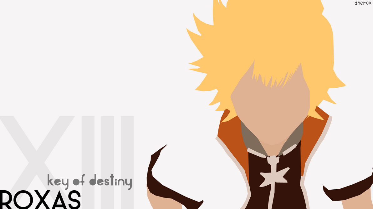 Roxas Minimalist Wallpaper By Dnerox On DeviantArt