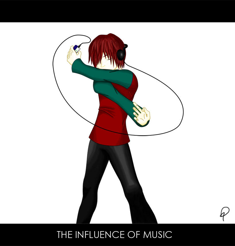 the influence of music Music has an influence on any and everyone who listens to it it stimulates the brain, and it motiva.