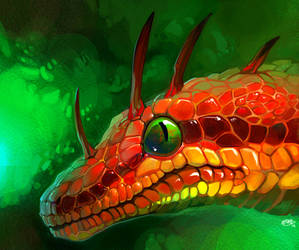 Snakedragon Surprise by NCurtiss