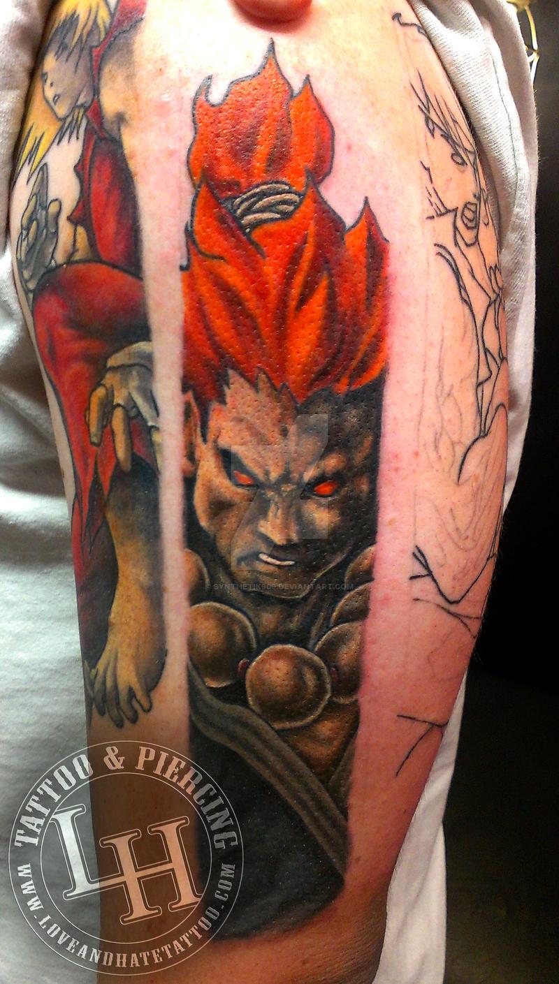 Street Fighter Akuma Tattoo By Synthetik909 On Deviantart