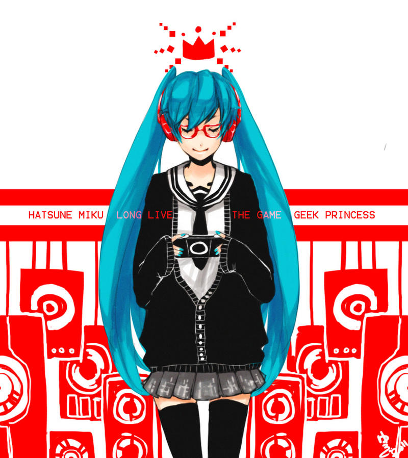 Miku_Geek Princess by RandomRemix