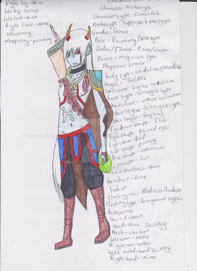 character design by saleahvanwyk on DeviantArt