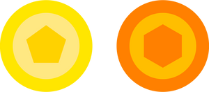 Quintagon and Hexagram Icons