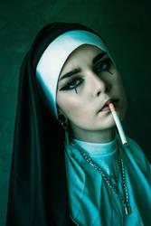 Self -portrait - The nun -