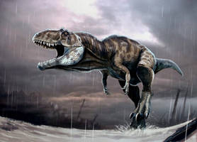 giganotosaurus en la lluvia by Gonzalezaurus