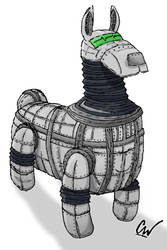 Robotic Llama by Squonkmeister