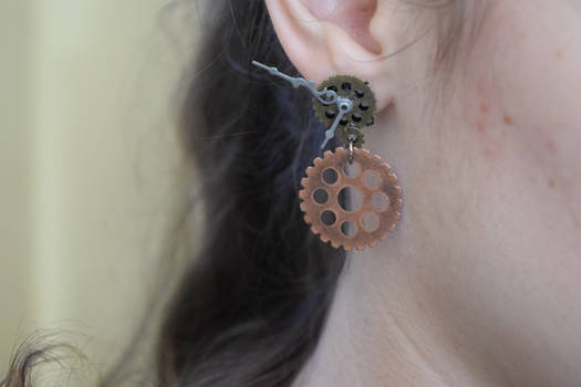 Steampunk Dangle Earrings