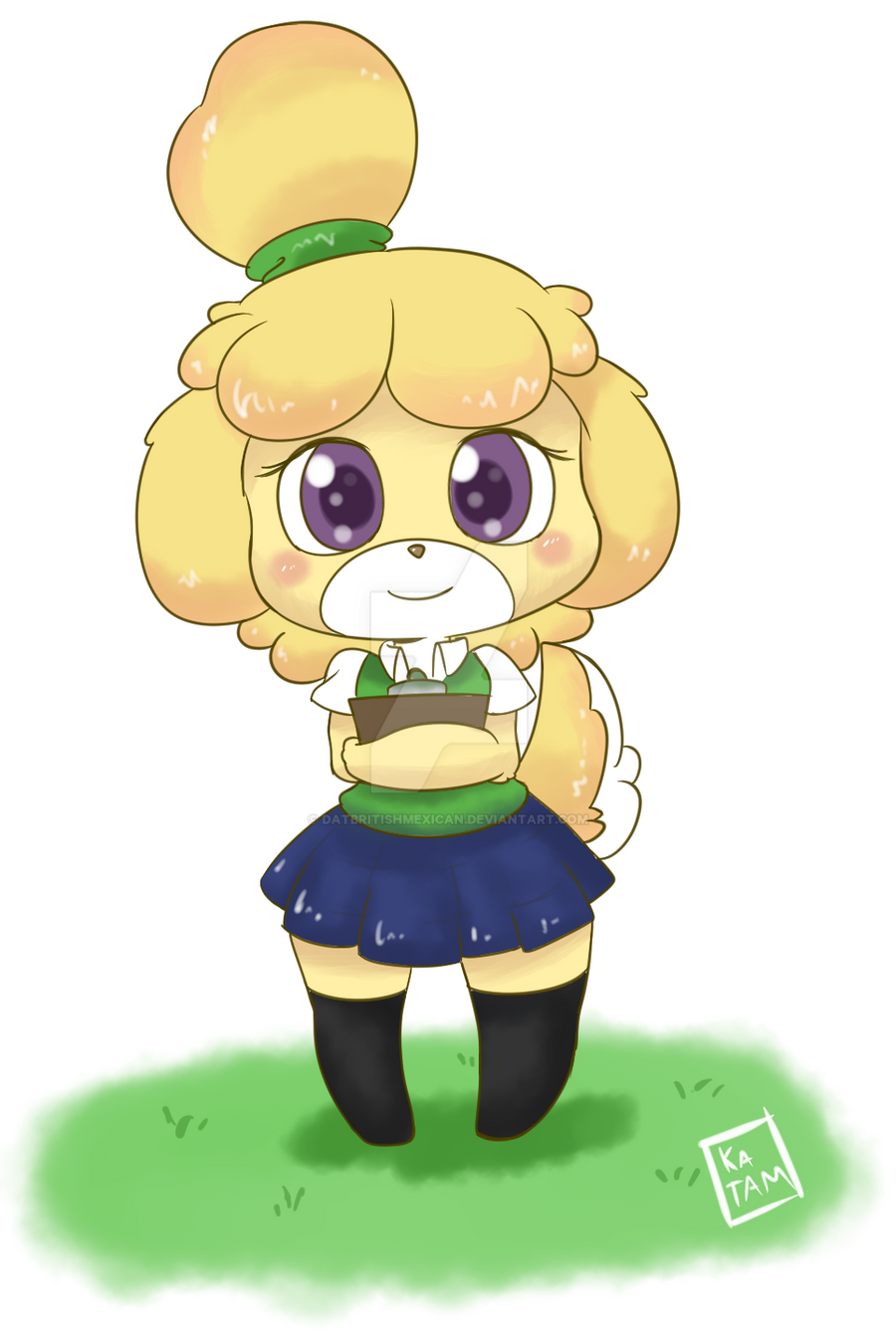 Isabelle - Animal Crossing by DatBritishMexican on DeviantArt