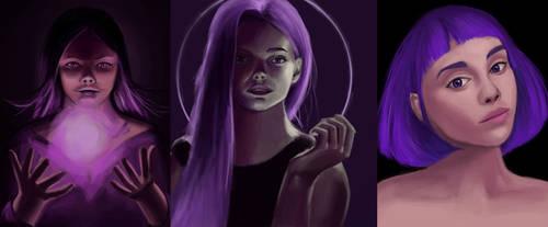 Huevember violet