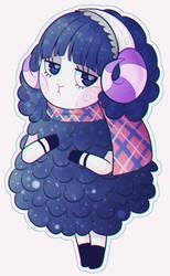 The goth sheep gf by UmiMizunone