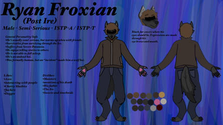 Ryan Froxian (post Ire) Ref sheet (OUTDATED) by Thailongz