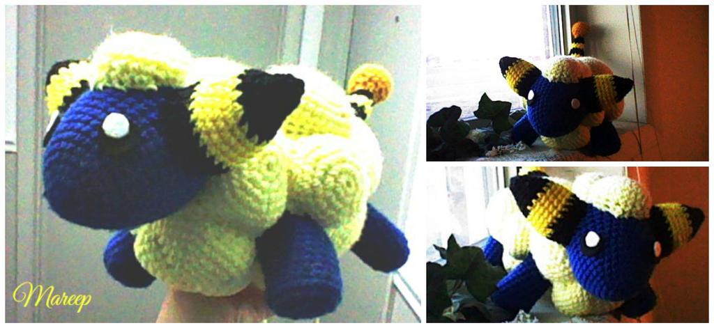 Crochet Mareep by ArtisansShadow