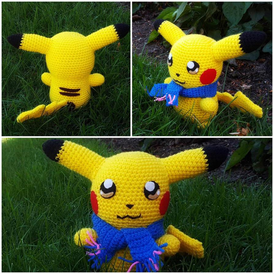 Amigurumi Pikachu Plush by ArtisansShadow on DeviantArt