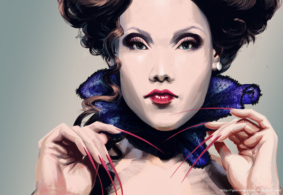 Elegant Vampire Girl ~ by GABRIELAGOGONEA