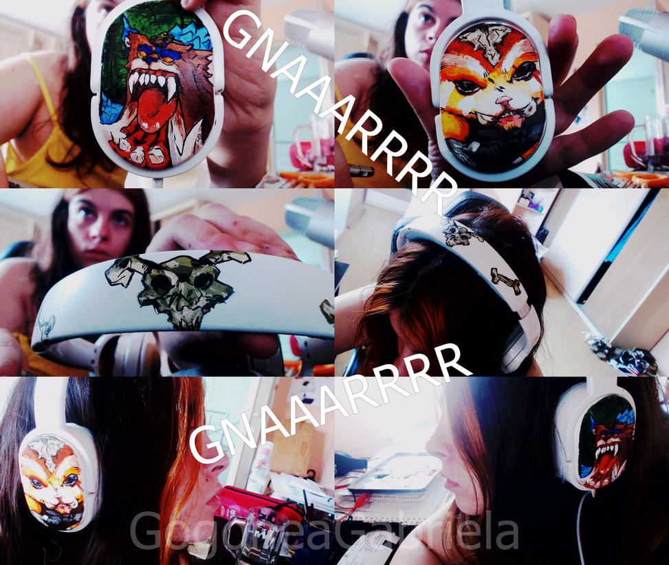 GNAR HEADPHONES by GABRIELAGOGONEA