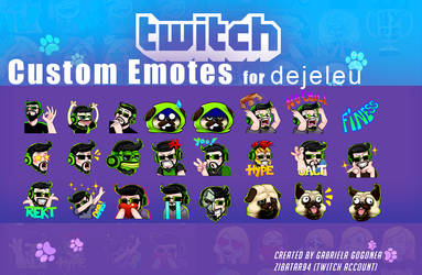 Dejeleu Emotes set