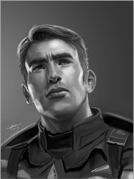 Captain America Portrait by dylanliwanag
