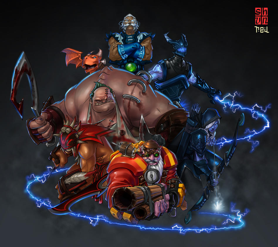 DOTA 2 Fan Art Collab Colors by dylanliwanag