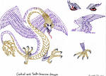 Feathered dragon in colour
