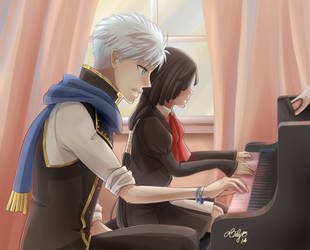 Piano Lesson by lily-kat