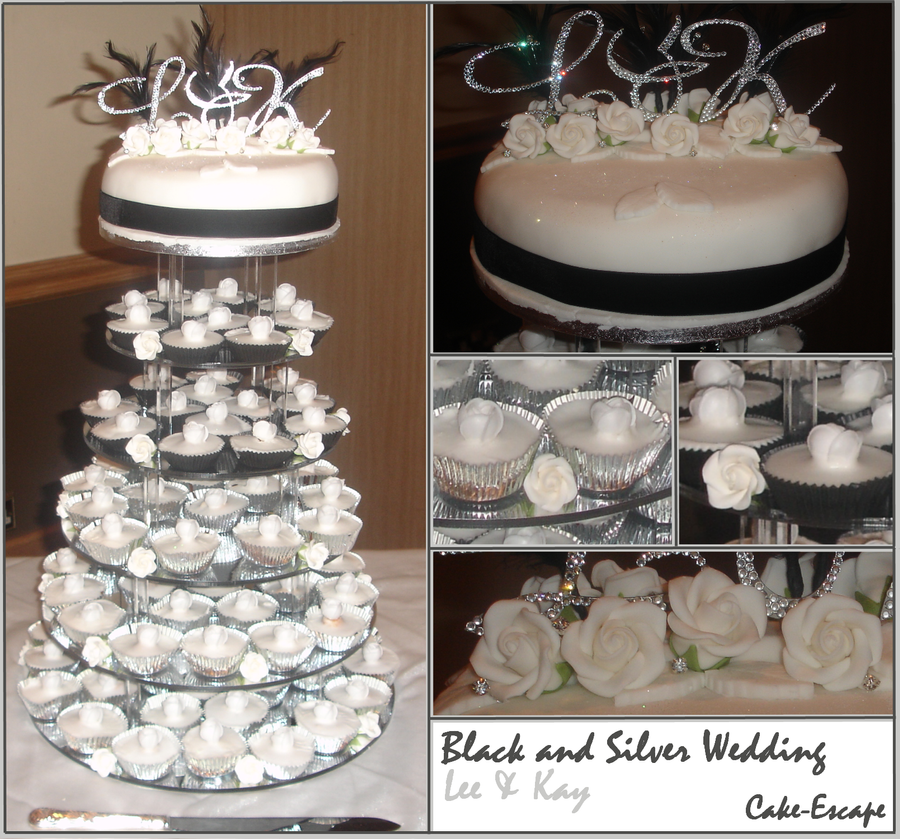 Black and Silver Wedding Cake by Cake-Escape on DeviantArt