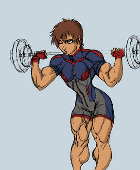 Gettar82's MMA girl coloring 2 by chipperpip