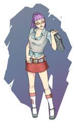 Schoolgirl by m-gnomik