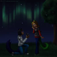 Will you marry me? .:Bday Gift:. by Coraleana