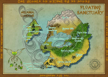 Floating Sanctuary Map by Coraleana