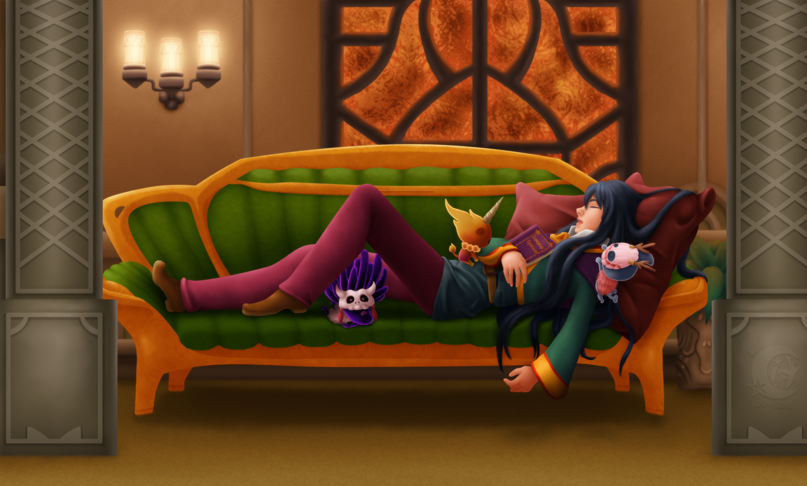 Napping by Coraleana