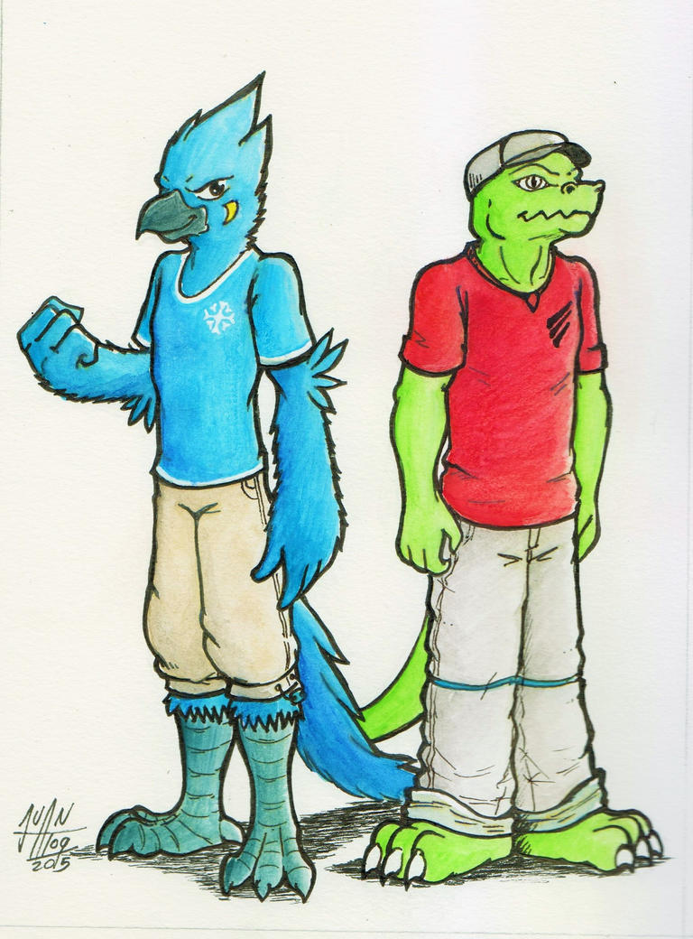 Avian and Scalie by JuanAtoq