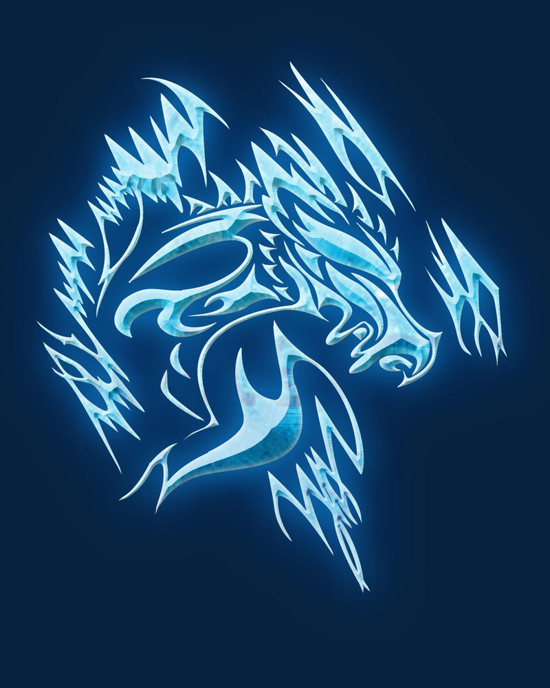 Ice dragon tattoo by 12blueflames on deviantart for Fire and ice tattoo shop