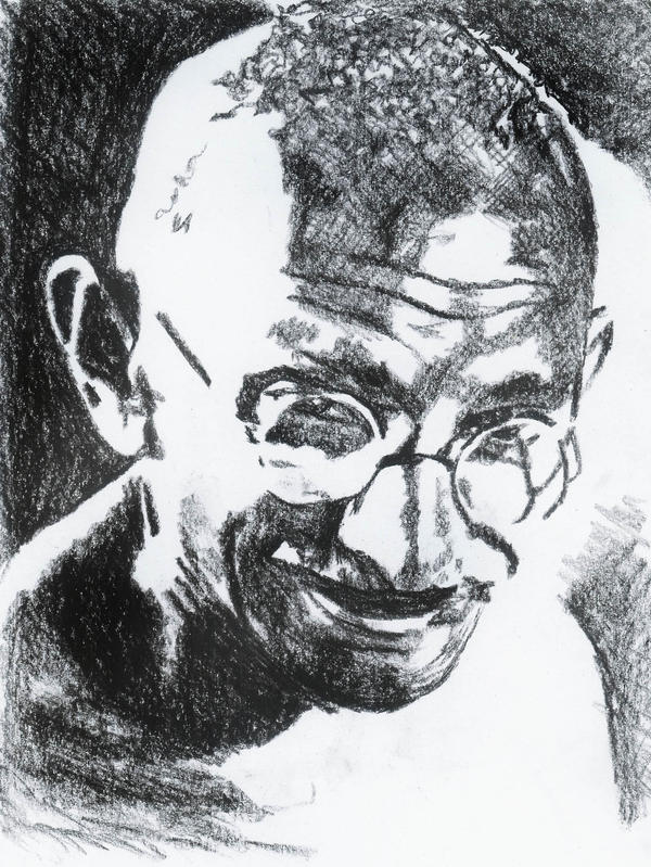 Gandhi by lavendershards