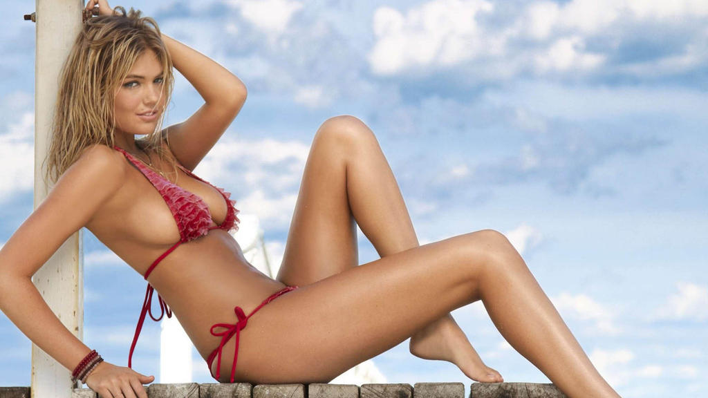 Kate Upton in a Red Bikini by KateUptonOnDA