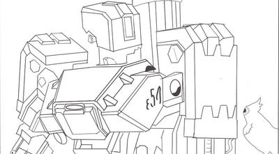 Colouring page bastion overwatch by capcartoon on deviantart for Overwatch coloring pages