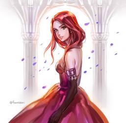 Study: Red dress by foomidori