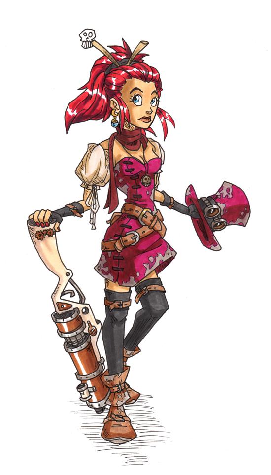 Steampunk Girl by PoF-28
