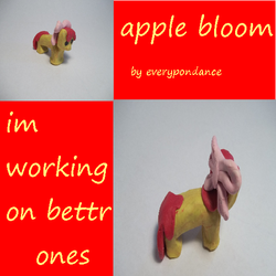 apple bloom CLAY PONY i can do better