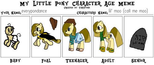 My Little Pony Age Meme - Little Moo