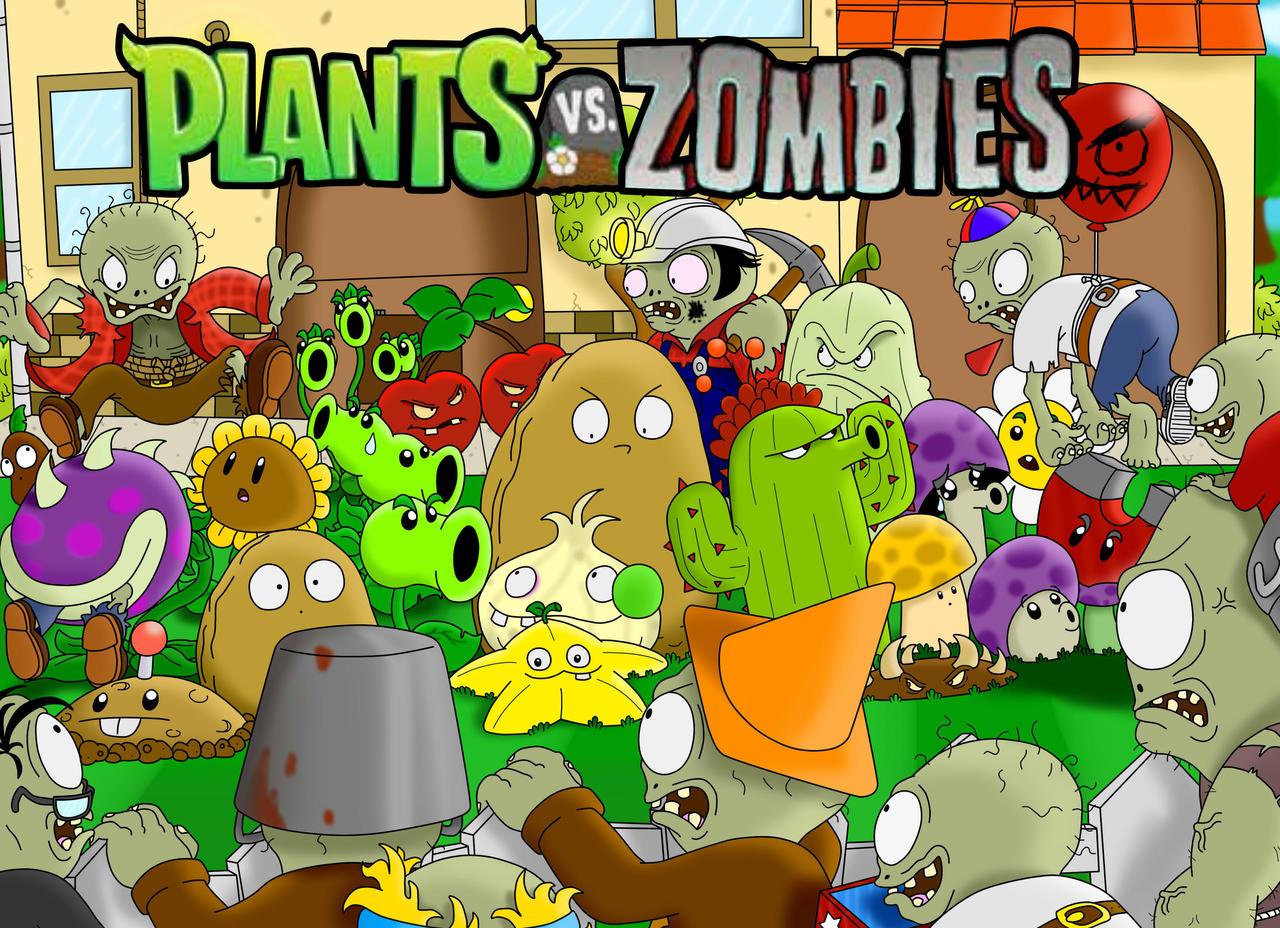 Plants vs zombies wallpaper by superlakitu